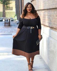 Trendy Curvy Plus Size Fashion Style Internet-Tagebuch Curvy Girl Fashion, Fashion Mode, Look Fashion, Autumn Fashion, Womens Fashion, Fashion 2018, Fashion Online, Fashion Websites, Cheap Fashion