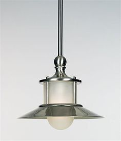 LOVE this Quoizel nautical looking mini pendant light for over the kitchen island
