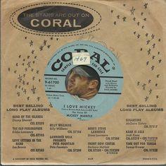 TERESA BREWER MICKEY MANTLE I Love Mickey TEEN BASEBALL SPORTS PROMO 45 RPM VG++