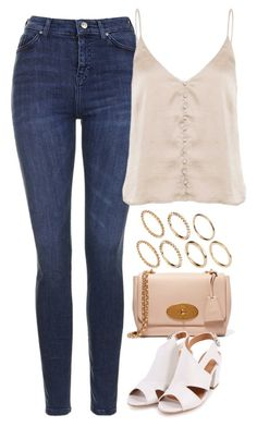 """Untitled #4127"" by keliseblog ❤ liked on Polyvore featuring Topshop, Mulberry and Pieces"