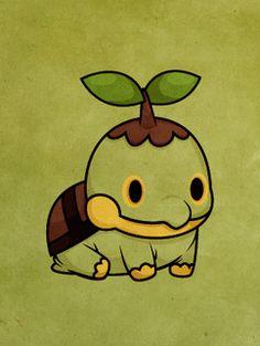 Pokemon - Turtwig by ~beyx on deviantart