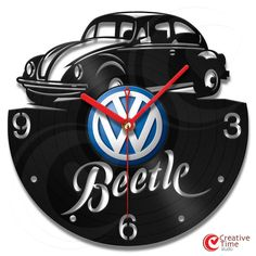 Vinyl wall clock - Beetle