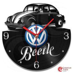 Vinyl wall clock - Beetle