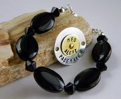 I really need to get this for my Penicillin allergy they are so stylish. You can take off the metal plate and put it on another bracelet!