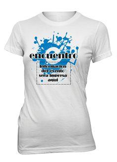Encuentro Camiseta Cristiana Personalizada Mujer