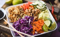 This unique, Thai-style salad has all sorts of deliciousness happening!