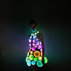 Infinity mirror LED light up party dress skirt costume clothing - brand new - New In Tops Led Dress, Dress Skirt, Light Up Dresses, Light Dress, Glow Stick Party, Glow Sticks, Led Costume, Costume Ideas, Cosplay Costumes