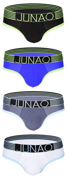 8b8fbf9709a2 Sexy Breathable Cool Low Waist Thin Ice Silk U Convex Briefs for Men. Aaron  Guzman · underwear · Men's UA Original Series Printed ...