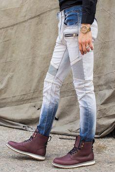 2016 Jeans Men Casual Fashion Men Jeans modern Designer Biker slim Fit Pants High Quality Denim Jeans vaqueros hombres