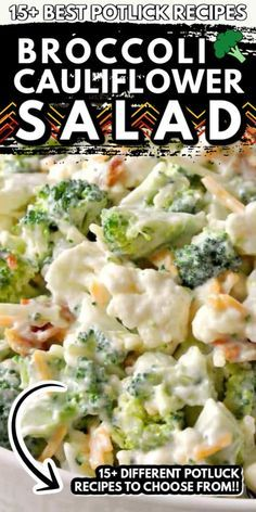 From this deliciously sweet broccoli cauliflower salad that is on our list to an easy deviled egg macaroni salad there is something on this list that will please even the pickiest of eaters. Potluck Recipes, Side Dish Recipes, Cooking Recipes, Easy Recipes, Dinner Recipes, Pasta Side Dishes, Veggie Side Dishes, Chicken Salad Recipes, Healthy Salad Recipes