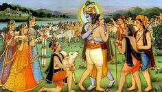 Gopa Kumar reunited with Lord Krishna in the spiritual world. Krishna Sudama, Krishna Lila, Sanskrit, Pichwai Paintings, Indian Paintings, Dev Ji, Lord Krishna Images, Krishna Pictures, Bhakti Yoga