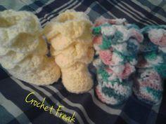 Crochet Freak: Crocodile Stitch Booties *Free Pattern*