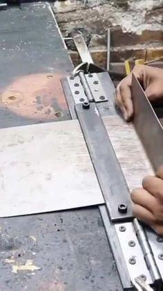 Metal Bending Tools, Metal Working Tools, Metal Tools, Diy Projects Plans, Metal Projects, Welding Projects, Homemade Tools, Diy Tools, Sheet Metal Bender