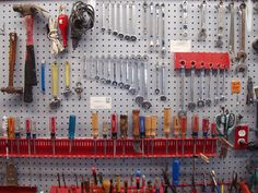 Pegboard tool organization.. Better use of all that space we have
