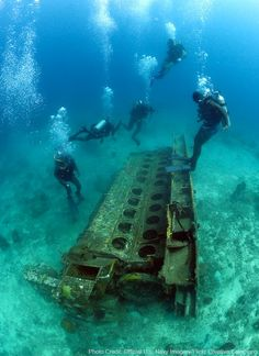 Scuba divers off the coast of Bridgetown encounter a 22-ton engine block.