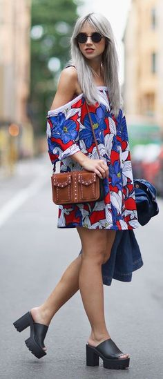 Colorful Floral Little Dress
