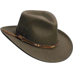 Western Cowboy Old West Yellowstone style Mens Khaki Tan Wool Felt hat M to XL