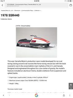 Vintage Sled, Vintage Racing, Snow Machine, Yamaha Motor, Snowmobiles
