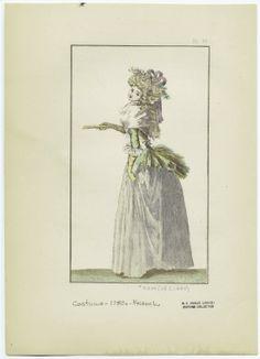 [Woman in dress, France, 1780s.]