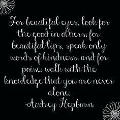 The fist *That's What She Said Linkup* is live, we're starting this linkup with a quote from Audrey Hepburn.  How will her words inspire you?