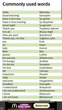 turkish learning - Recherche Google