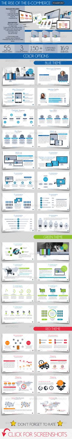 The Rise of the E commerce (Powerpoint Templates) #Powerpoint #Powerpoint_Template #Presentation