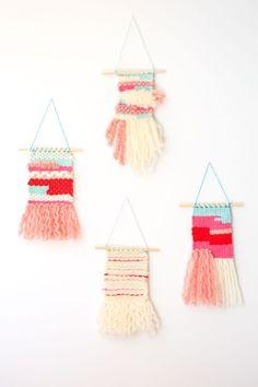 Weaving Techniques - diy mini wall hangings