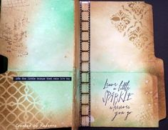 Manila file mini album for Inspiration Journal (Redanne)