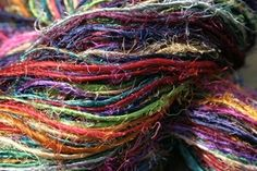 Image of Recycled Photon Rainbow Sport Weight Recycled Silk Yarn