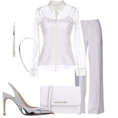 Outfit Bianco e dettagli argento