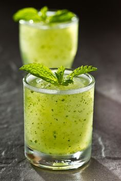 Collagen & Skin Cleanser Smoothie - pear, lime, cucumber, parsley (sub watercress), mint, and vanilla