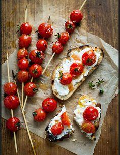 Recettes tartines salées tomates cerises