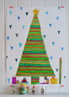 giant christmas tree paintings are my fave