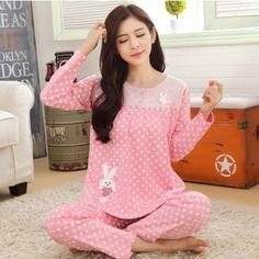 ¥ 79.00. Pink Love Bunny Pajama Set from Suning. Ship worldwide with Borderlinx.com Salwar Suit Neck Designs, Neck Designs For Suits, Blouse Back Neck Designs, Night Suit For Girl, Night Dress For Women, Cute Sleepwear, Sleepwear Women, Funny Baby Clothes, Kawaii Clothes