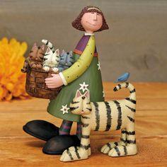 Girl with Basket of Kittens Figurine Girl with Basket of Kittens Figurine - Everyday Folk Art Figurines & Collectibles – Williraye Studio - $40.00