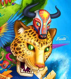Fiesta Colombia by Karlos Velásquez, via Behance Ste Lucie, Taurus Tattoos, Arte Pop, Ebony Women, Art Studies, Behance, Painting, Fictional Characters, Posters