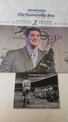 Tim Tebow Signed Gainesville Sun Newspaper Heisman Issue