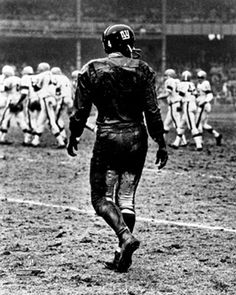 Y.A. Tittle OLD SCHOOL (c.1962) Poster Print - New York Giants Black-and-White Vintage NFL Football #nyg