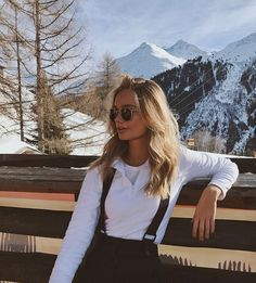 ð … – photo ideas – Wintersport – Glasses Ideas Ski Fashion, Winter Fashion, Womens Fashion, Arab Fashion, Sporty Fashion, Sporty Chic, Mode Au Ski, Snow Outfit, Foto Casual