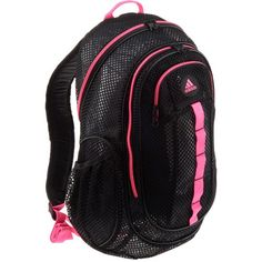 black and pink adidas backpack