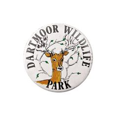 Vintage British Souvenir Badge - Dartmoor Wildlife Park