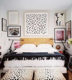 black and white bedroom via Lonny