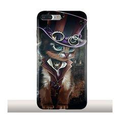 Steampunk Cat, Coque iPhone 7 plus silicone gel, Kajenna - Kinghousse Steampunk Cat, Coque Iphone 7 Plus, Iphone 7 Plus Cases, Coque Huawei P9 Lite, Portable Huawei, Portable Apple, Apple Iphone, Telephone Iphone, Smartphone