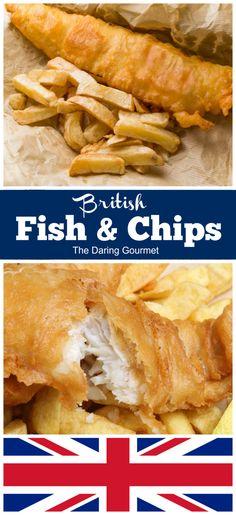 Recipes to Cook Cod Fish Beautiful British Fish and Chips Recipe the Daring Gourmet Fish Recipes, Seafood Recipes, Cooking Recipes, Walleye Recipes, Recipes Dinner, Dinner Ideas, Fish And Chips Rezept, British Fish And Chips, Best Fish And Chips