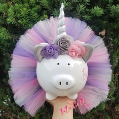 Your place to buy and sell all things handmade Unicorn Room Decor, Unicorn Rooms, Unicorn Gifts, Unicorn Party, Lavender, Piggy Banks, Christmas Ornaments, Holiday Decor, Flowers