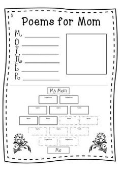 Mother's Day Writing - Newspaper Activity (Print and Digital) Mother's Day Projects, Projects For Kids, Kindergarten Poetry, Mom Poems, Winter Art, Construction Paper, Writing Activities, Newspaper, Art Lessons