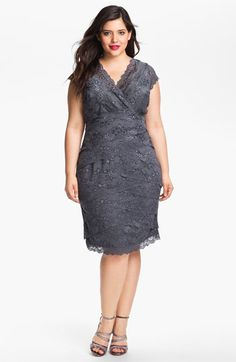 JS Collections Layered Lace Sheath Dress (Plus) | Nordstrom