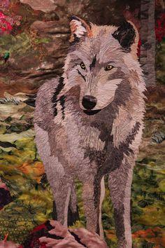 Illiama, wolf quilt at Boulder Loose Threads