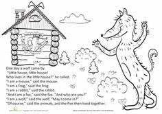 Worksheets: Teremok Part IV: The Wolf
