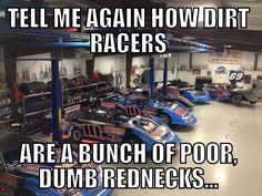Well, more for stock car racers, but you get the idea ...